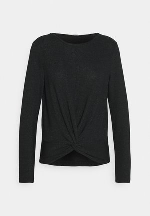 SUVENIA GLITTER - Top sdlouhým rukávem - black