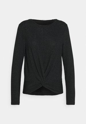 SUVENIA GLITTER - Long sleeved top - black
