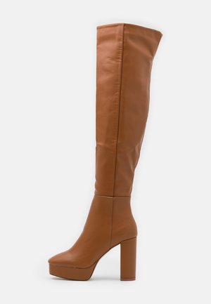 CAROLINA - High heeled boots - cognac