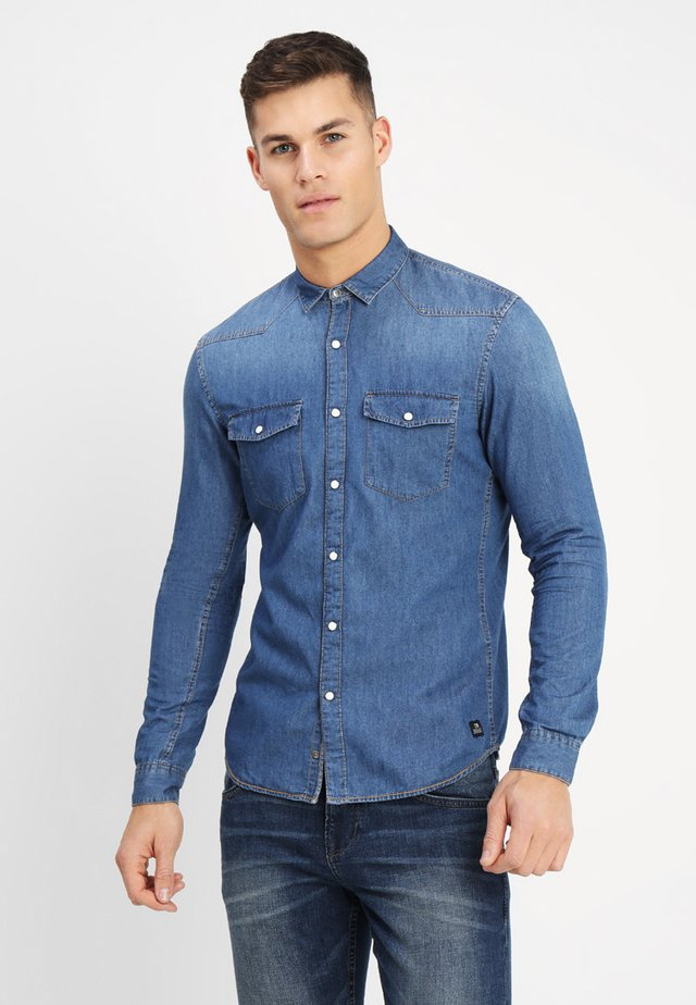 Camicia - stone blue denim