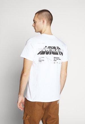 NEW WAVE - T-shirt imprimé - white
