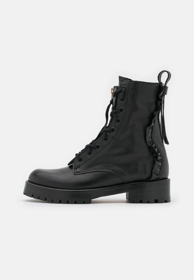 COMBAT BOOT - Šněrovací kotníkové boty - nero