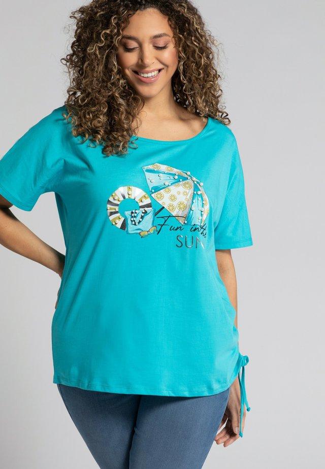 T-shirt imprimé - aqua profond
