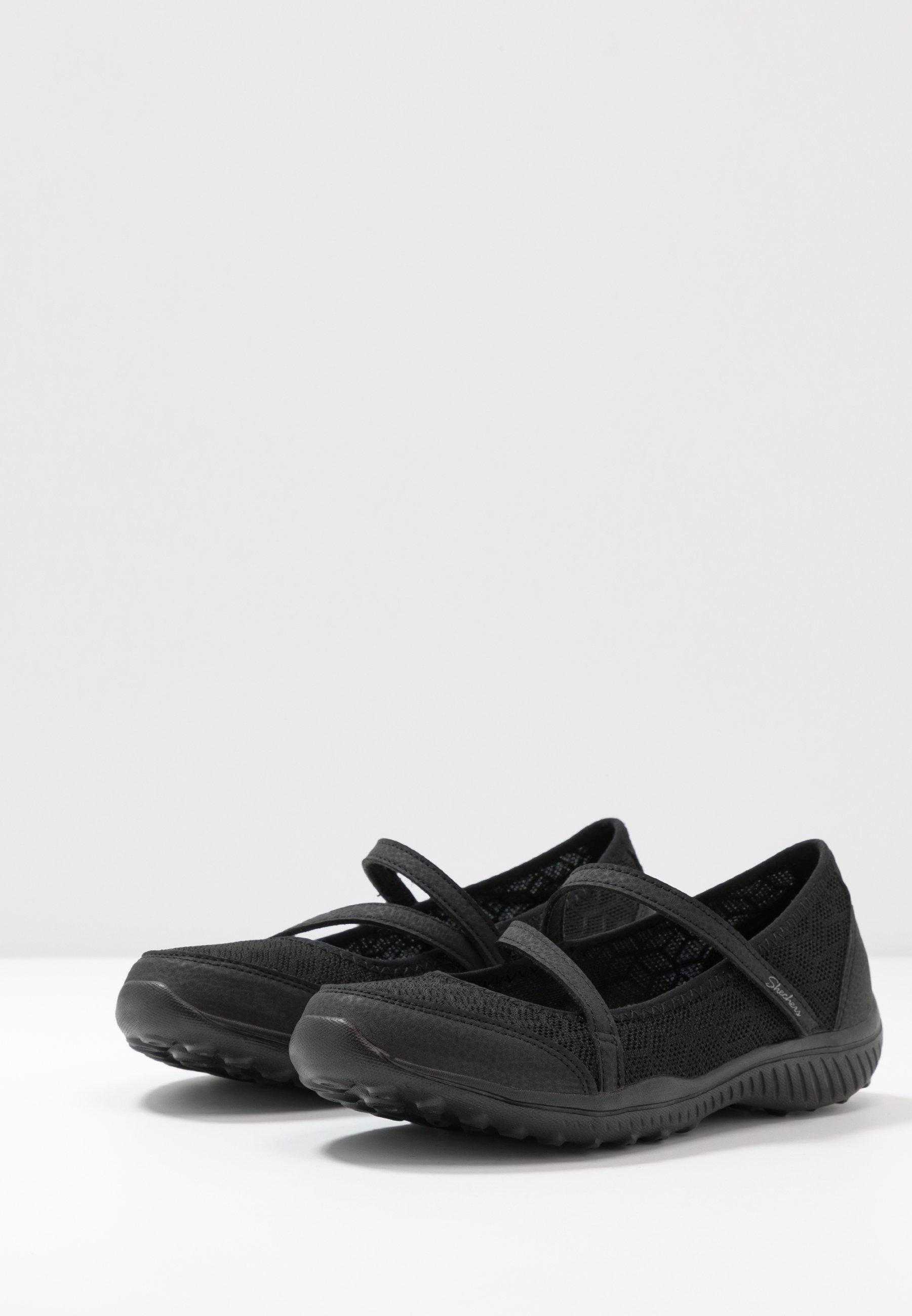 Skechers BELIGHT Riemchenballerina black/schwarz
