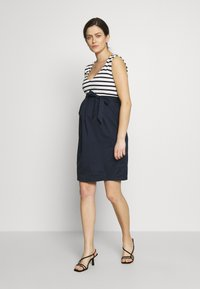 Balloon - STRAIGHT DRESS STRIPES - Vestito estivo - navy-white - 1