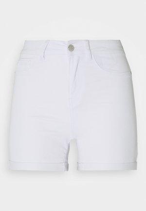 VMHOT SEVEN FOLD TALL - Shorts vaqueros - light blue denim/bright white