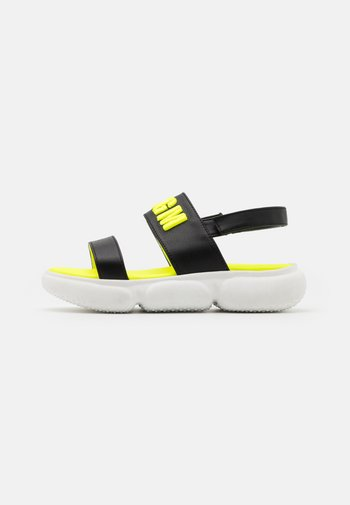 Sandals - black/neon yellow