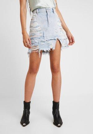 DE-MIXY - Denim skirt - indigo