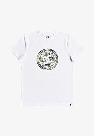 CIRCLE STAR  - Camiseta estampada - snow white