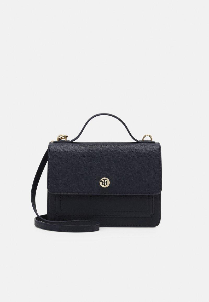 Tommy Hilfiger - HONEY FLAP SATCHEL - Handbag - blue