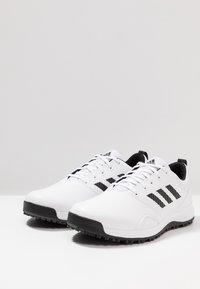 adidas Golf - TRAXION - Golf shoes - footwear white/core black/grey six - 3