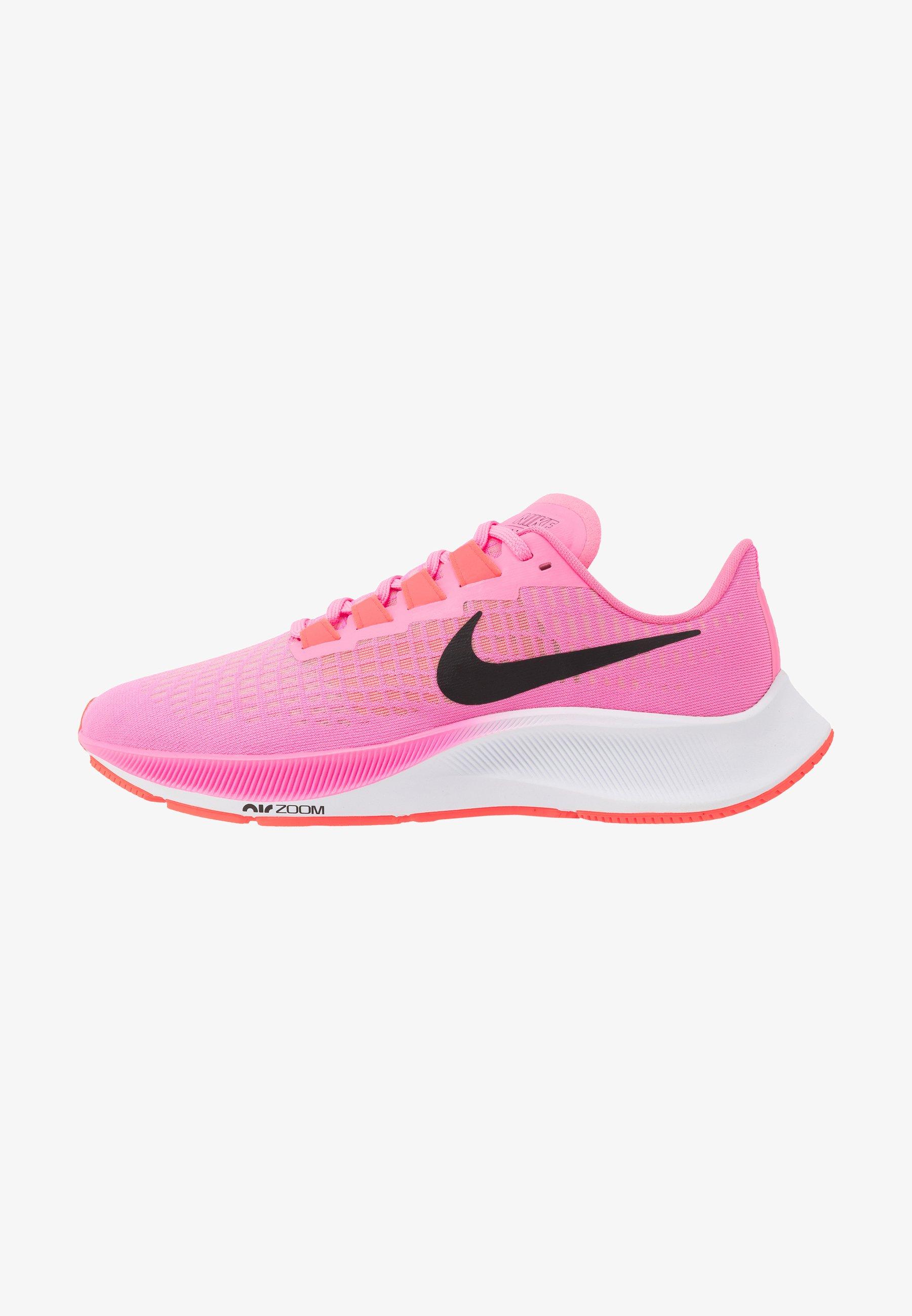 George Eliot Obediente Brote  Nike Performance AIR ZOOM PEGASUS 37 - Zapatillas de running neutras - pink  glow/black/platinum violet/white/rosa - Zalando.es
