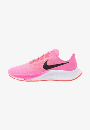 AIR ZOOM PEGASUS 37 - Neutral running shoes - pink glow/black/platinum violet/white