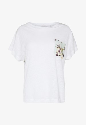 WITH POCKET - Print T-shirt - pearl white
