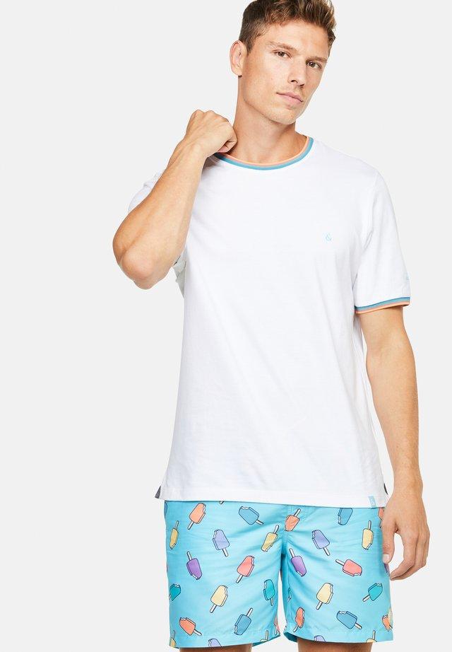 KARL - T-shirt con stampa - weiß