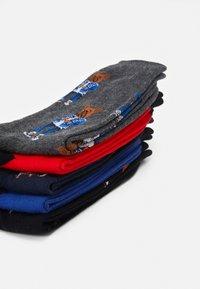 Jack & Jones - JACORG DOG SOCK 5 PACK - Ponožky - dark grey melange/black/navy blazer - 2