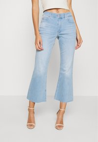 Calvin Klein - HIGH RISE SKINNY  - Široké džíny - light-blue denim - 0