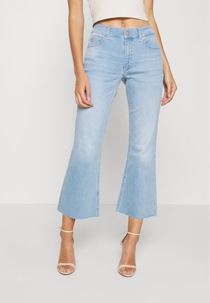 HIGH RISE SKINNY  - Jeans a zampa - light-blue denim