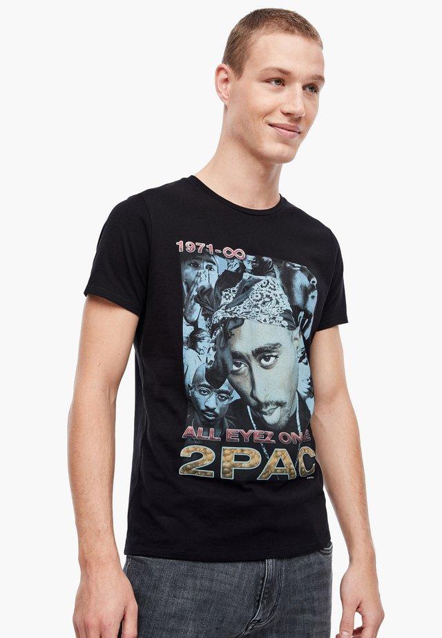 MIT 2PAC-FOTOPRINT - Print T-shirt - black