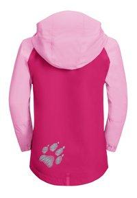 Jack Wolfskin - TUCAN UNISEX - Outdoor jacket - pink peony - 1