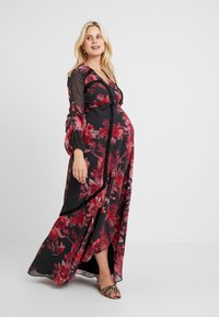 Hope & Ivy Maternity - WRAP MAXI DRESS WITH TRIM DETAILS - Day dress - red - 1