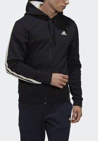 adidas Performance - WINTER 3-STRIPES FULL-ZIP HOODIE - Zip-up hoodie - black - 7