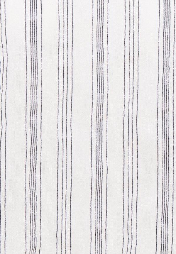TOM TAILOR DENIM SLEEVE STRIPED - Bluzka - white blue/biały ZEPE