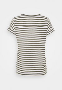 Marks & Spencer London - STRIPE - Print T-shirt - khaki - 1