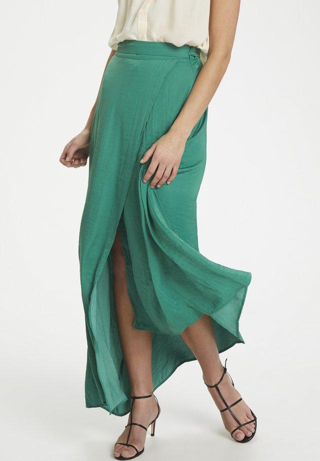SLKELLAN MAXI SKIRT - Spódnica z zakładką - pine green