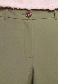 Dorothy Perkins Petite - PETITES ELASTIC BACK NAPLES ANKLE GRAZER - Trousers - khaki - 4