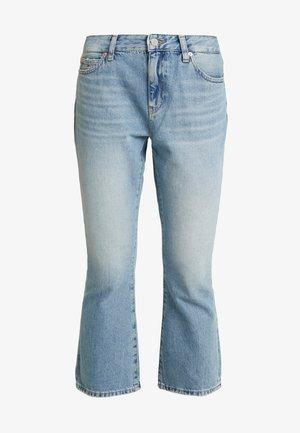 CROP - Flared jeans - light-blue