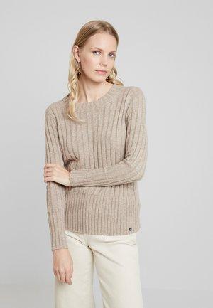 VNECK - Pullover - taupe
