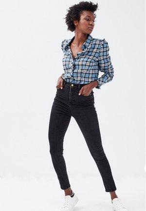 MIT HOHEM BUND - Jeans Skinny Fit - denim noir