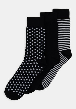 JACORGANIC SOCK 3 PACK - Skarpety - black