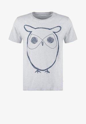 ALDER BIG OWL TEE - T-shirt imprimé - grey melange