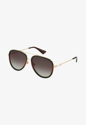 Sunglasses - gold/green