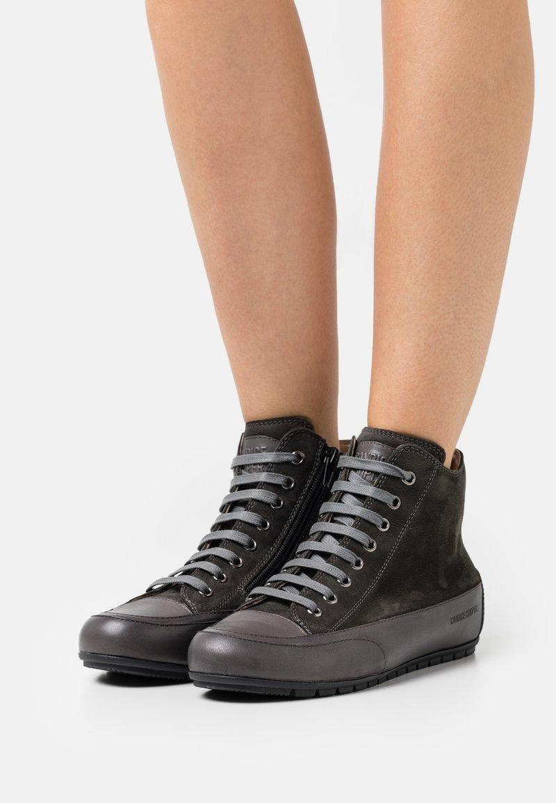 Candice Cooper - PLUS - Höga sneakers - tamponato antracite/montone