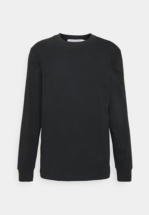 CENTER BADGE - Long sleeved top - black