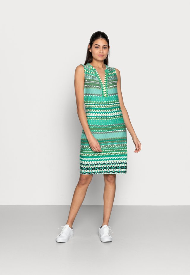 DRESS GREEN GARDEN - Vestito di maglina - print