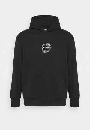 WORLDWIDE HOOD UNISEX - Sweatshirt - black