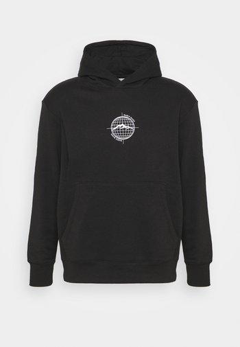 WORLDWIDE HOOD UNISEX - Sweatshirt - black