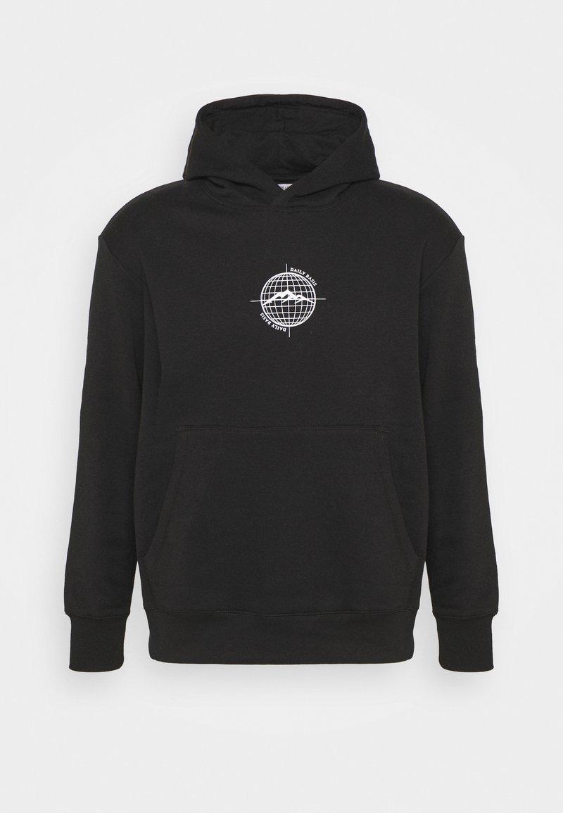 Daily Basis Studios - WORLDWIDE HOOD UNISEX - Sweatshirt - black