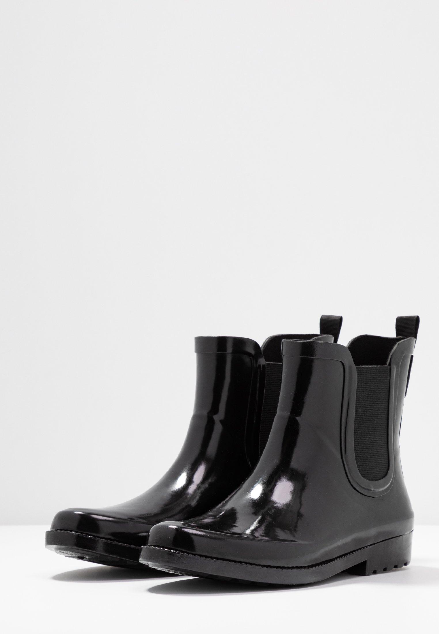 Pieces PSHELLA RAIN BOOT - Bottes en caoutchouc - black - Bottes femme Nouveau