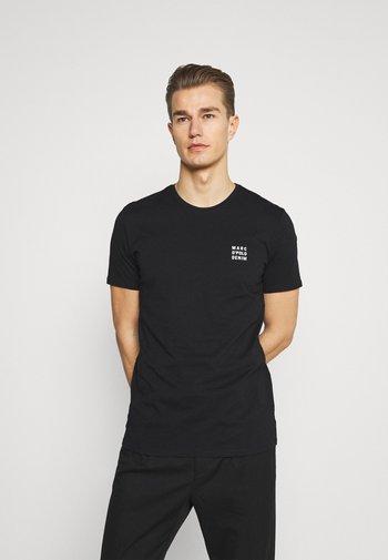 SHORT SLEEVE LOGO - Basic T-shirt - black