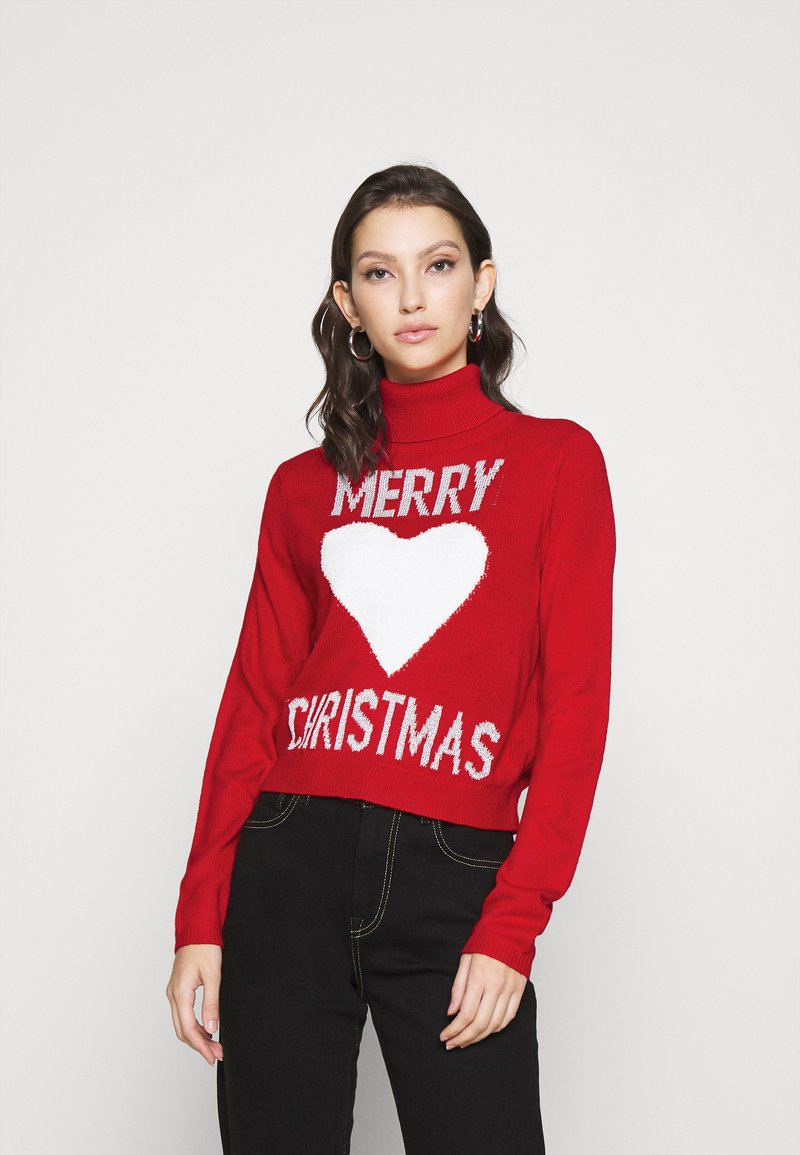ONLY - ONLXMAS LOVE - Jumper - high risk red