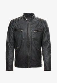 FIRE MAN - Leather jacket - dusty grey