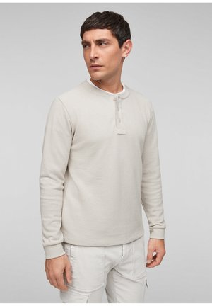 MIT HENLEYAUSSCHNITT - Long sleeved top - cream