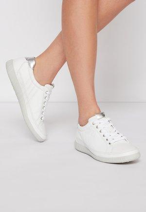Sneakers laag - weiß/argento