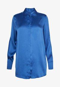 SPLIT SLEEVE - Button-down blouse - mid blue