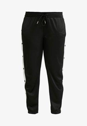 LADIES BUTTON UP TRACK PANTS - Pantaloni sportivi - black